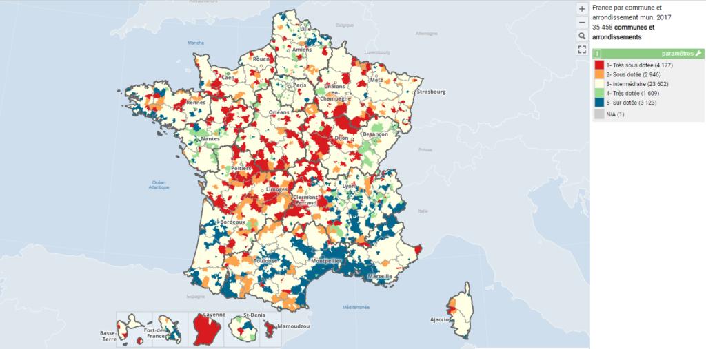 s'installer en libéral : zones sous-dotées et sur-dotées