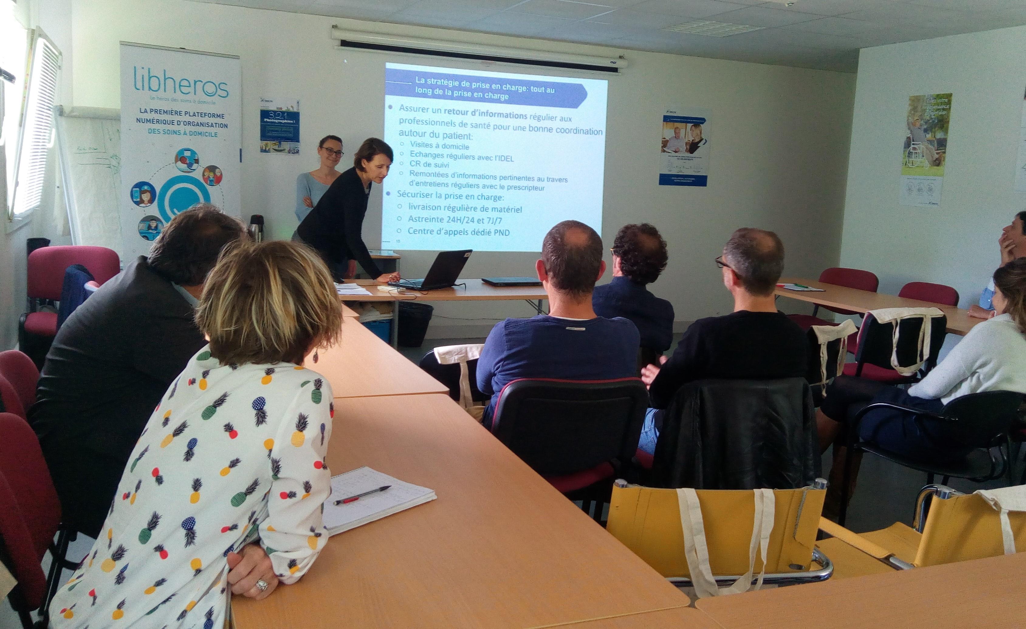 Rencontre entre ORKYN' et les infirmiers à Bordeaux