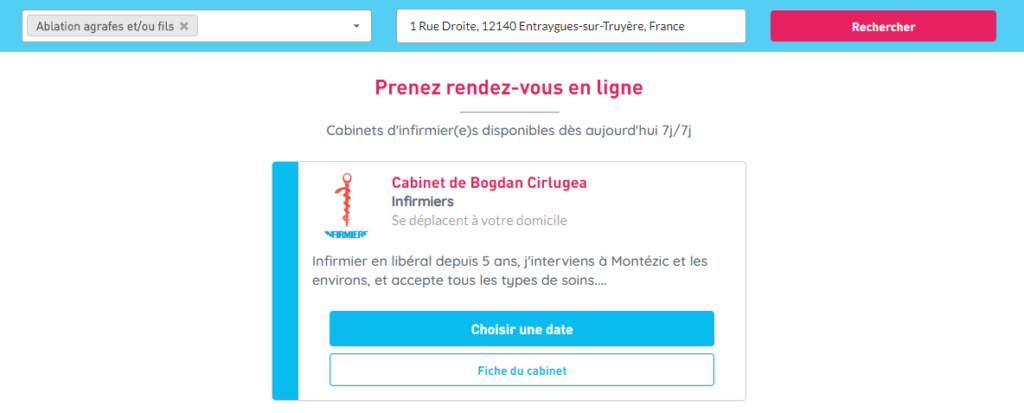 Visibilité auprès des patients sur libheros.fr (résultats de recherche)